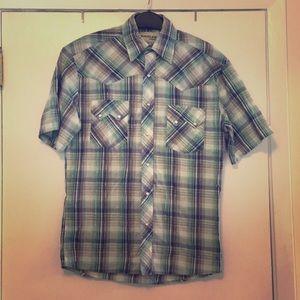 Vintage pearl snap western shirt, sleeve shirt